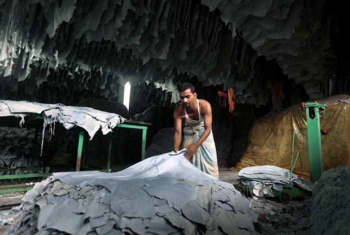 Производство кожаной одежды в Бангладеш