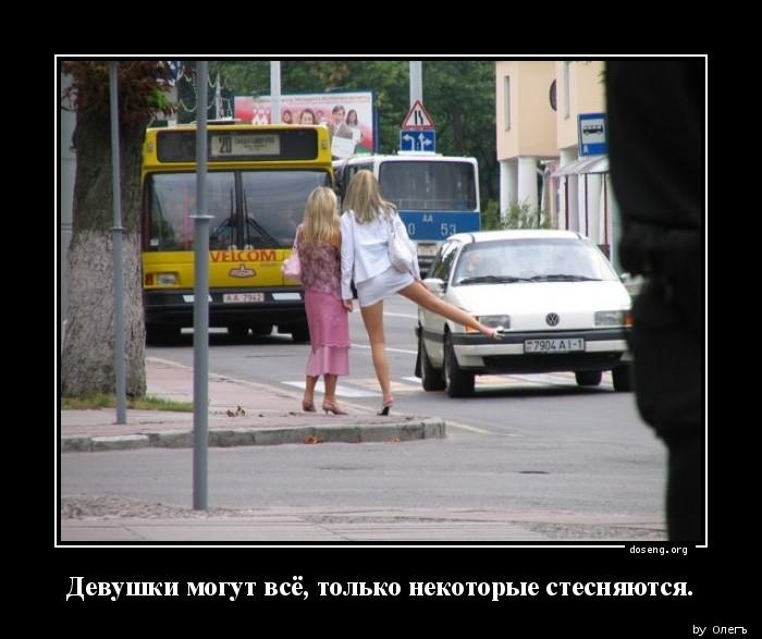 Девушки могут всё, только некоторые стесняются.