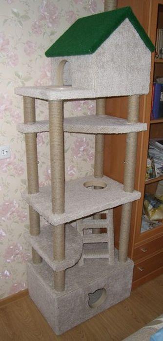 Сделать своими руками дом для кошки