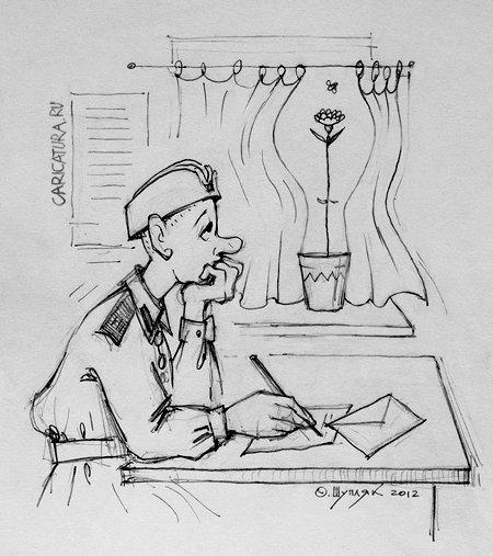 Смешные рисунки про армию карандашом