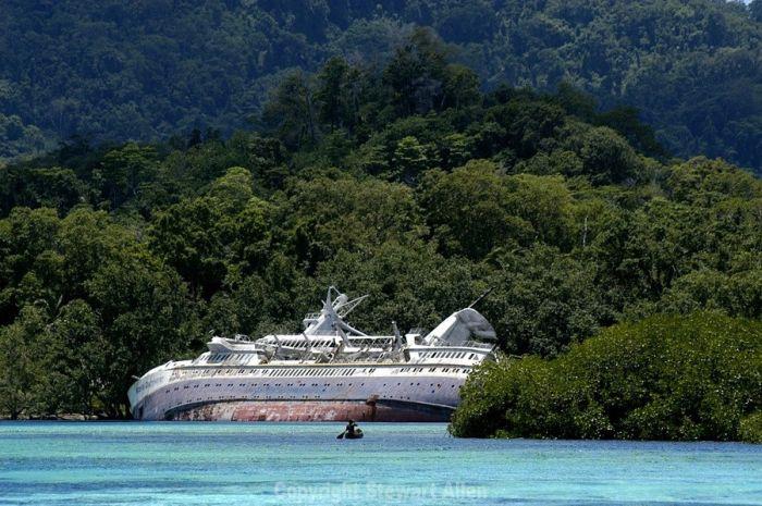 Круизный лайнер World Discoverer достопримечательность Соломоновых островов