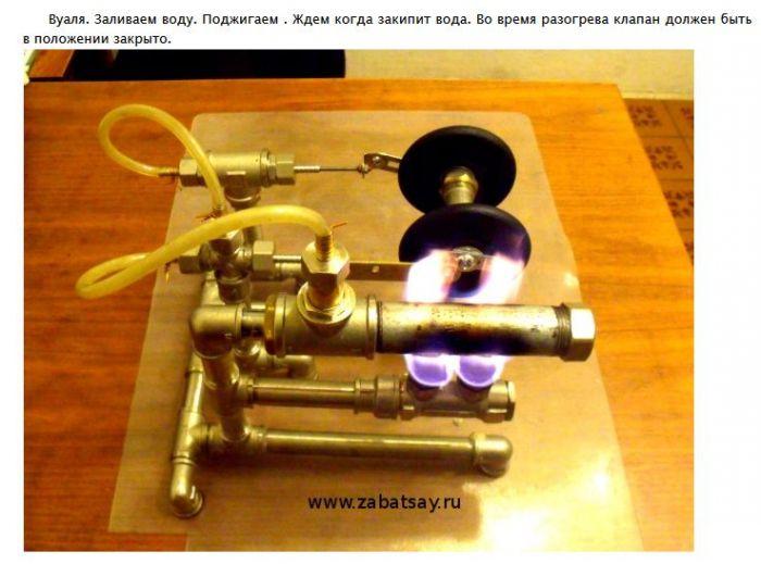 Делаем паровой двигатель из подручных средств