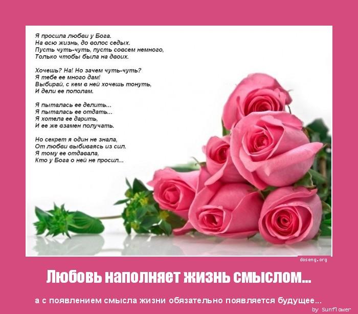 Любовь наполняет жизнь смыслом