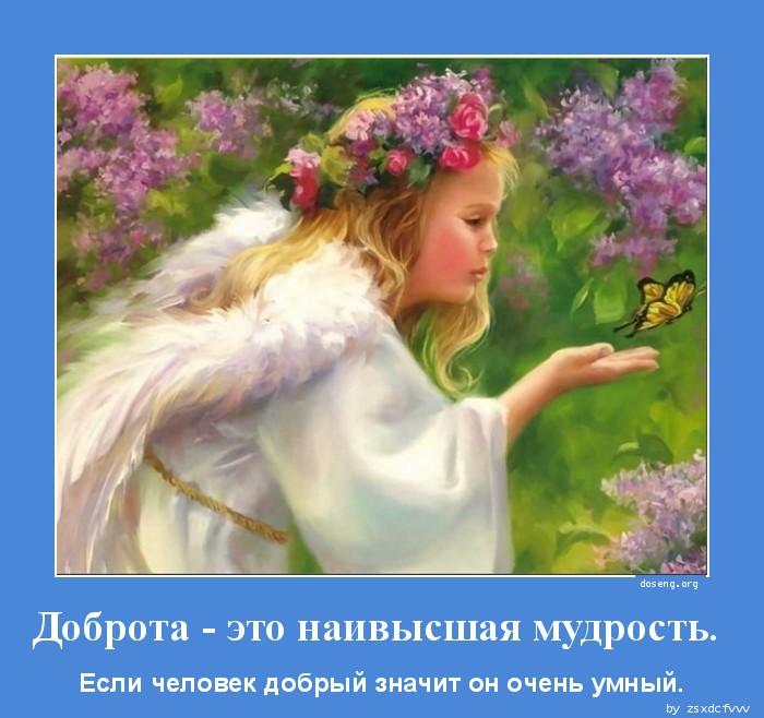 Доброта - это наивысшая мудрость.