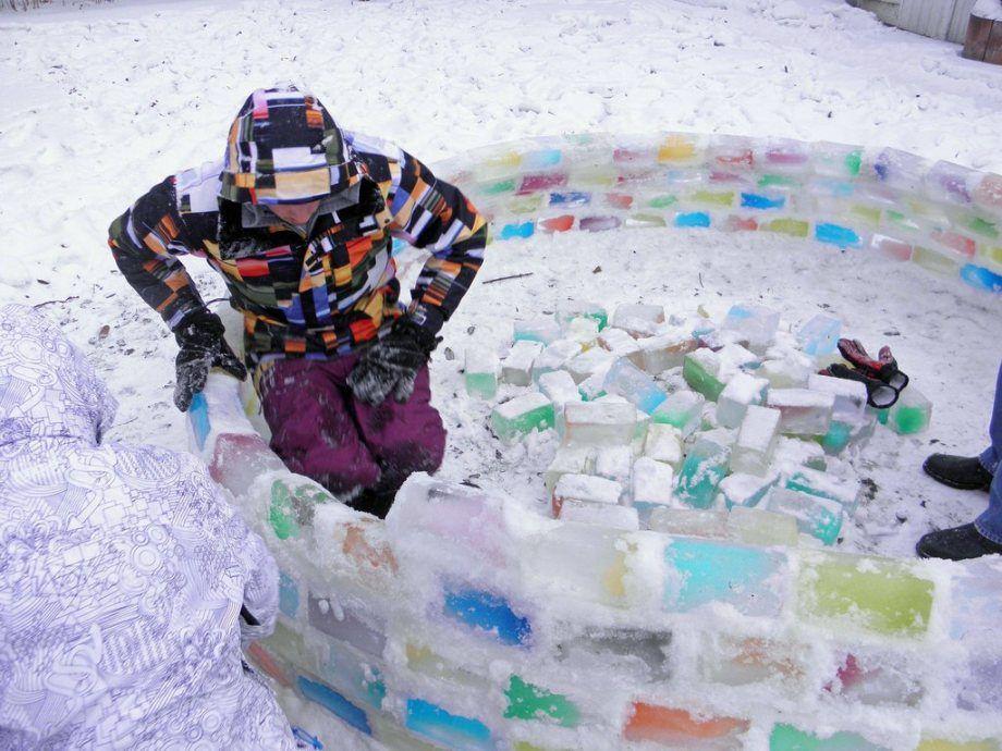 Как сделать иглу своими руками из снега