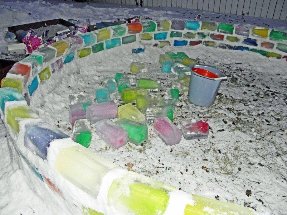 Ледяные домики своими руками