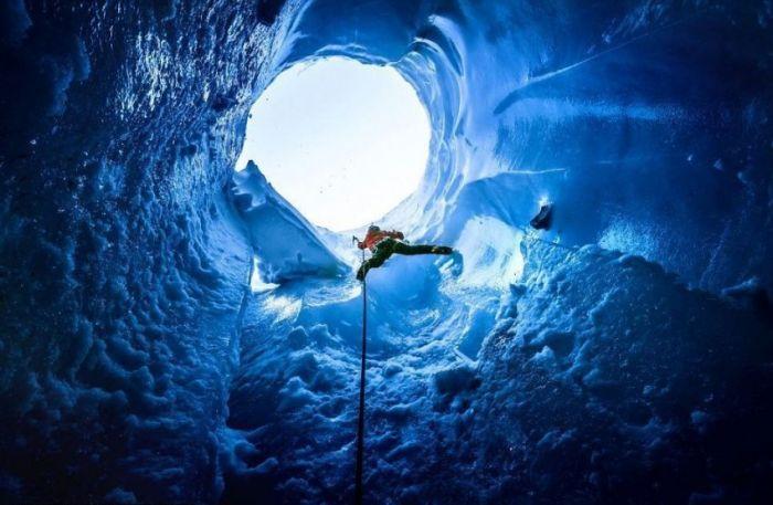 Ледяные пещеры Французских Альп