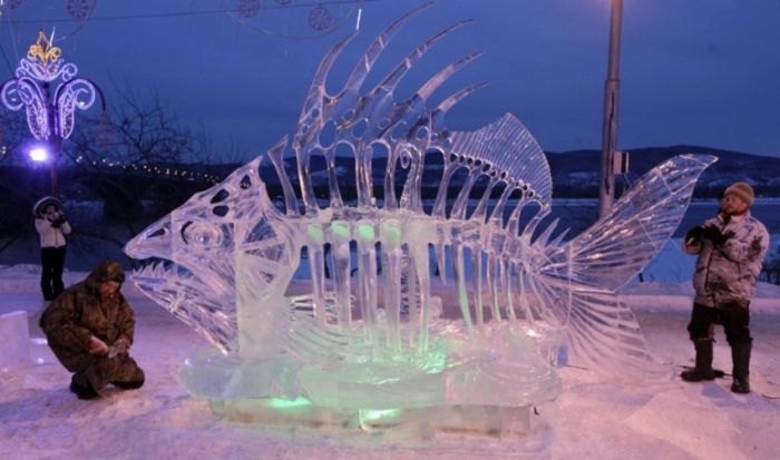 Шедевры ледяной скульптуры