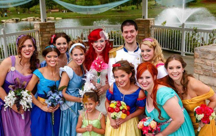 Необычная свадьба в стиле Диснея