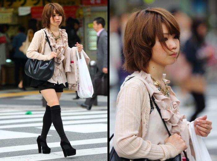 Подборка японских девушек в повседневной жизни