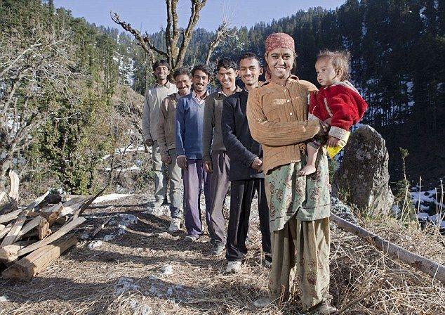 Индианка с пятью мужьями