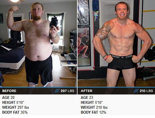 Похудевшие люди