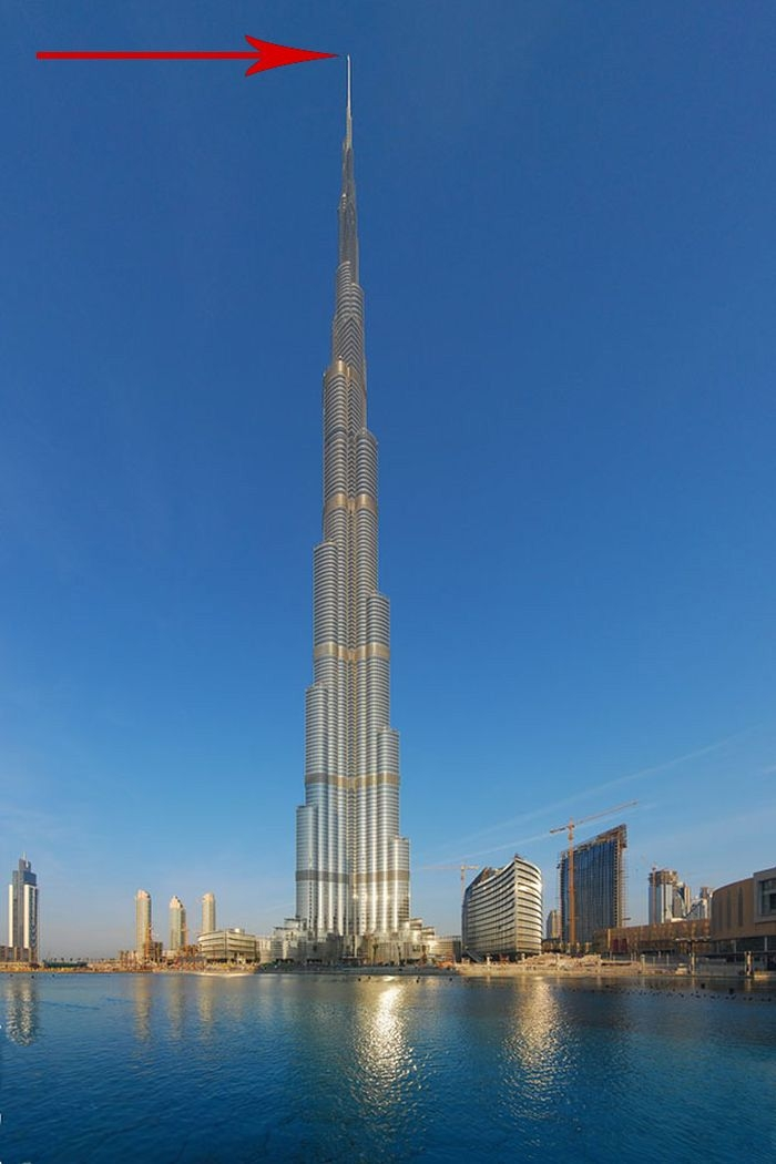 Потрясающий снимок с небоскреба Бурдж-Халифа