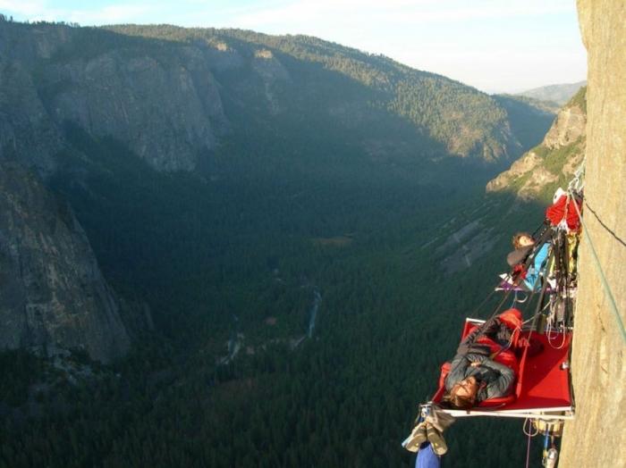 Ночевка на отвесных скалах парка Йосемити