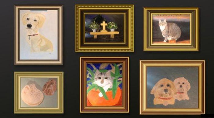Угадайте, кто нарисовал эти картины...