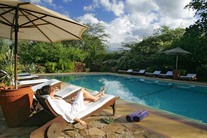 Уникальный отель в национальном парке в Кении
