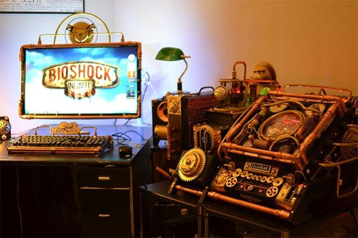 Крутой моддинг компьютера в стиле стимпанк (8 фото)