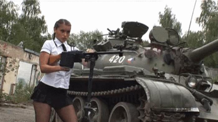 Гифка танкиста, духовым
