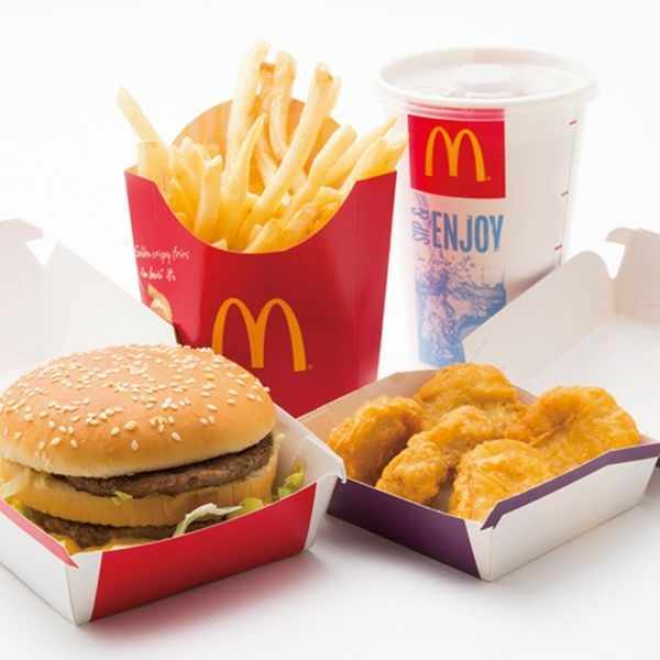 Еда из McDonald's в японском стиле