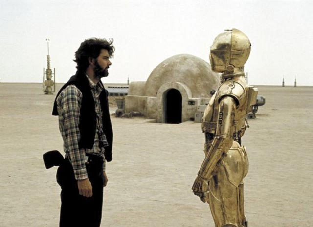 Фотографии со съемок фильма Star Wars 1977 года