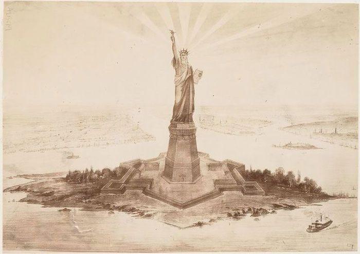 Редкие снимки со строительства статуи Свободы (11 фото)