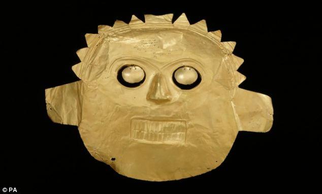 Выставка золотых артефактов из Эльдорадо