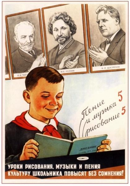 Советские плакаты об учебе