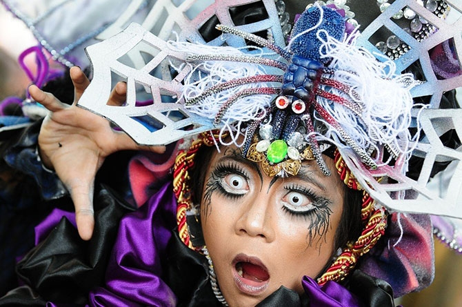 Карнавал моды в Индонезии