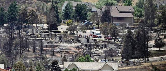 Город после пожара