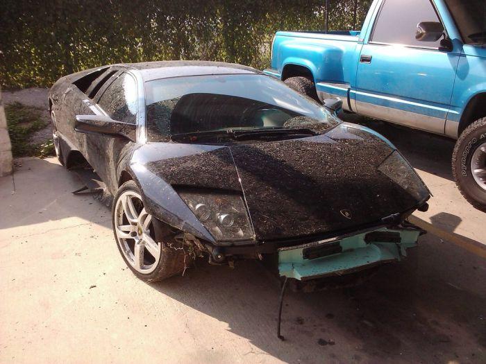 Разбил свой новенький Lamborghini