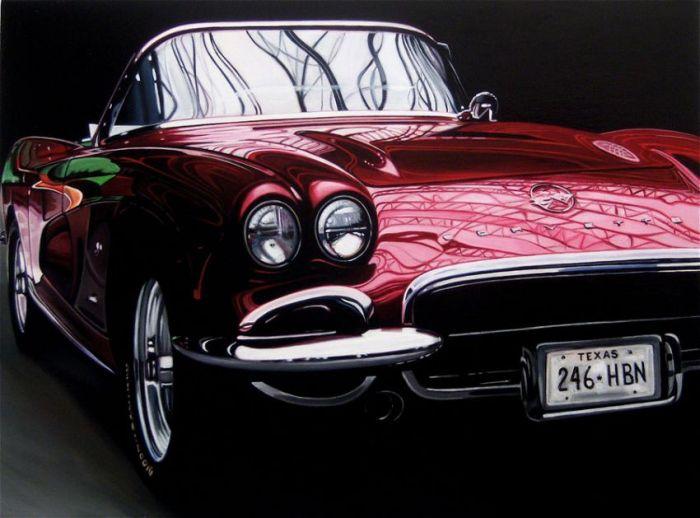 Удивительные рисунки ретро автомобилей