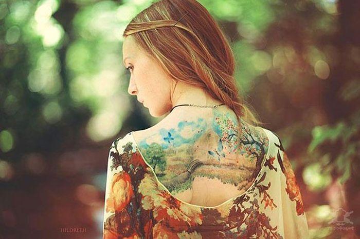 Акварельные татуировки