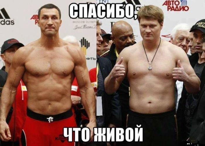 Приколу на тему поединка Кличко - Поветкин
