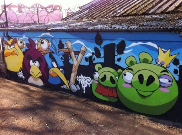 Уличное искусство в стиле видео игр