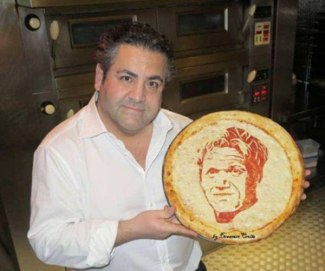 Портреты на пицце
