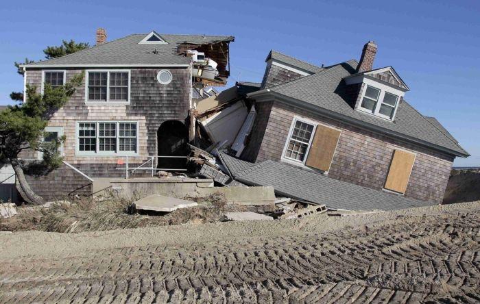 До и после урагана Сенди