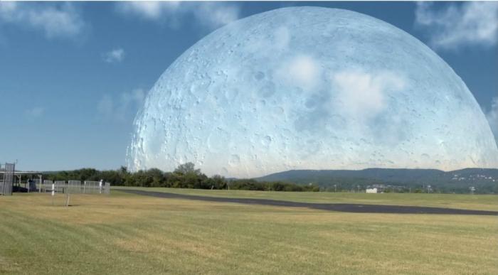 Если бы Луна была на расстоянии 400 км от Земли