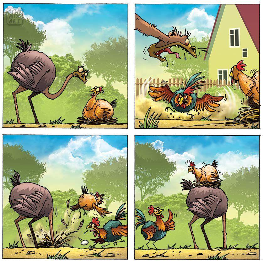 Рисунок страуса прикольный, скучаю люблю открытки