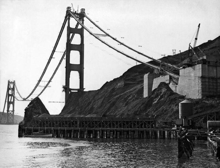 Строительство моста Золотые Ворота