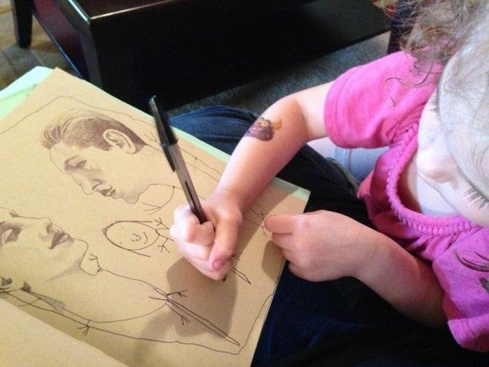 Совместное творчество с дочкой