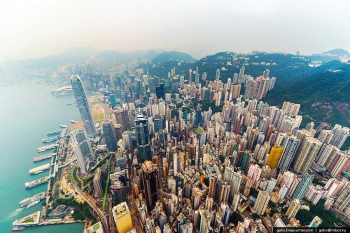 Фотографии Гонконга с высоты птичьего полета