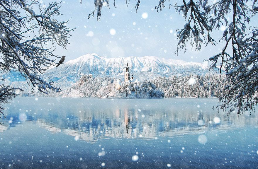 Красивые сказочные зимние пейзажи фото