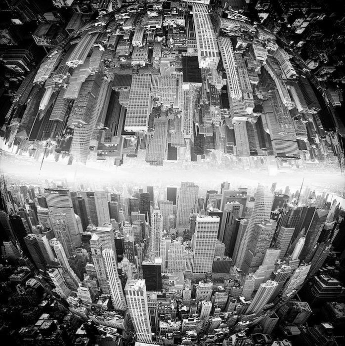 Зеркальные фотографии Манхэттена