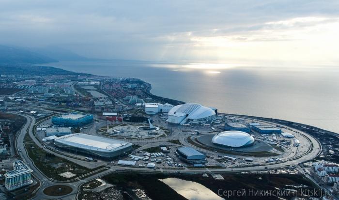 Олимпийские объекты с высоты птичьего полета