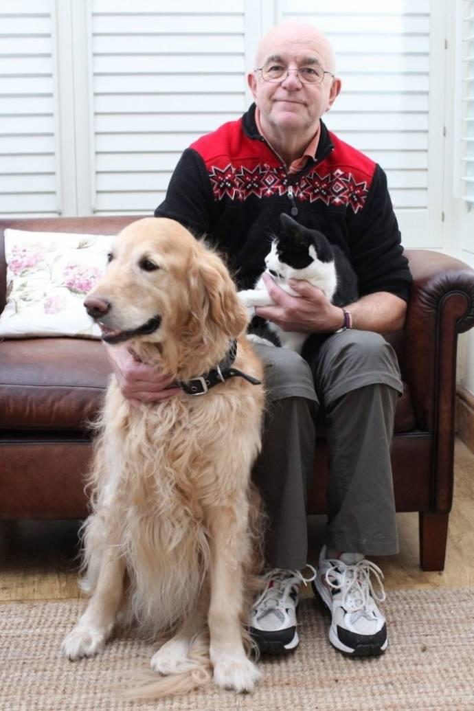 Пес спас жизнь коту