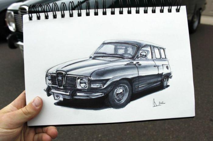 Рисованные автомобили