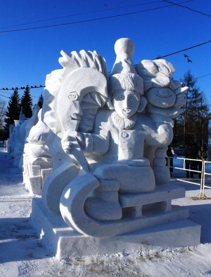Сибирский фестиваль снежной скульптуры 2014