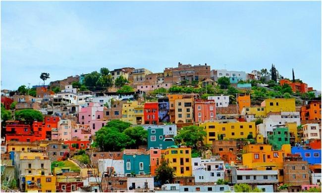 Разноцветные города