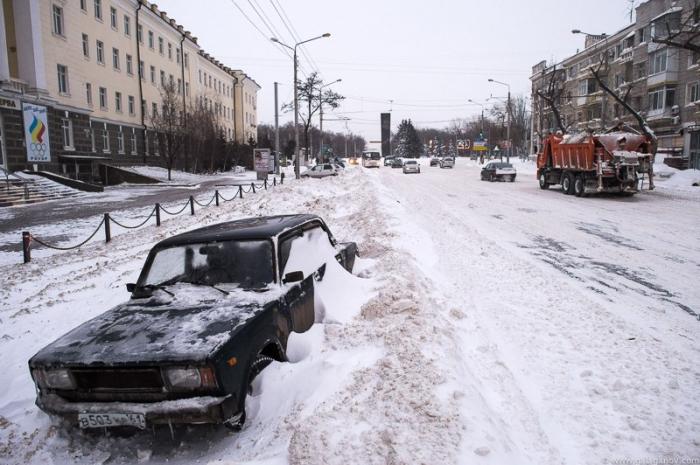 Ростов-на-Дону в снежном плену