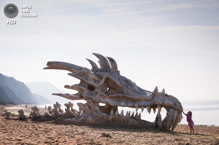 Скульптура череп дракона